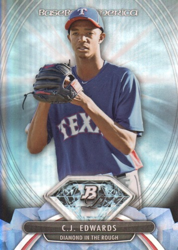 Photo of 2013 Bowman Platinum Diamonds in the Rough Carl Edwards Jr. Cubs post-season