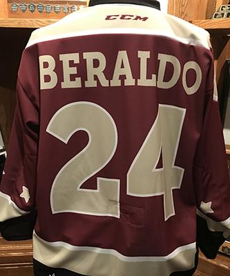 Adrien Beraldo (#24) - Game-Worn Petes Alumni Homecoming Jersey