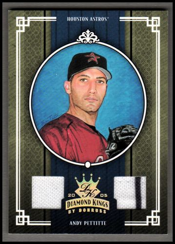 Photo of 2005 Diamond Kings Materials Gold #349 Andy Pettitte Jsy-Jsy/50