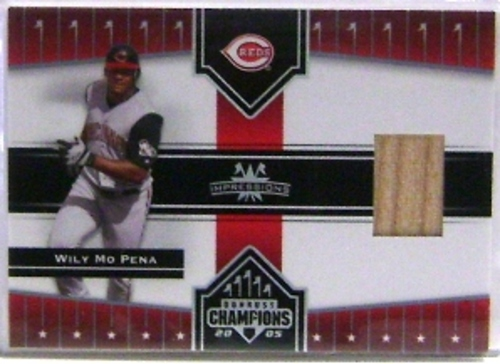 Photo of 2005 Donruss Champions Impressions Material #179 Wily Mo Pena Bat T3