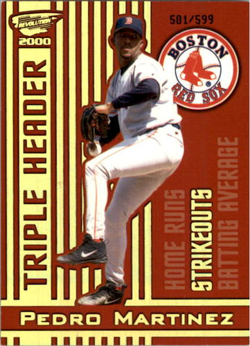 Photo of 2000 Revolution Triple Header Holographic Gold #25 Pedro Martinez