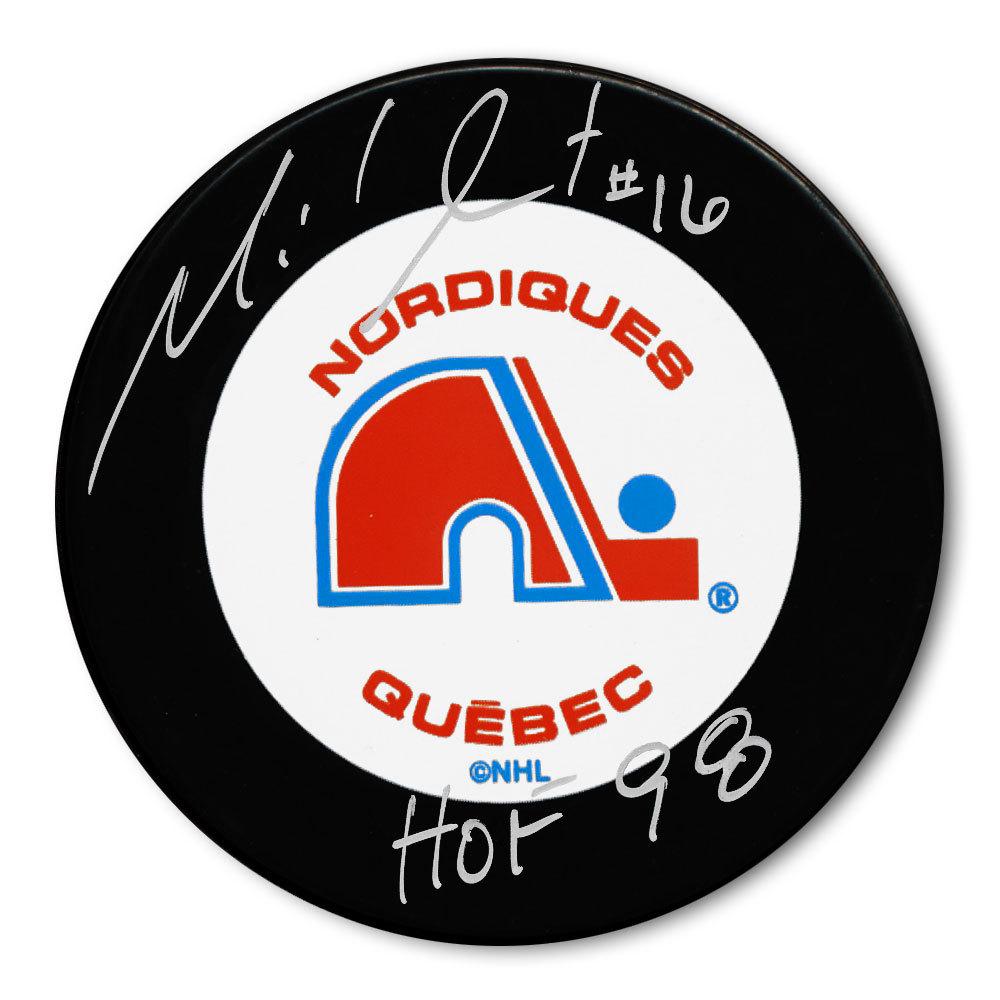 Michel Goulet Quebec Nordiques HOF Autographed Puck