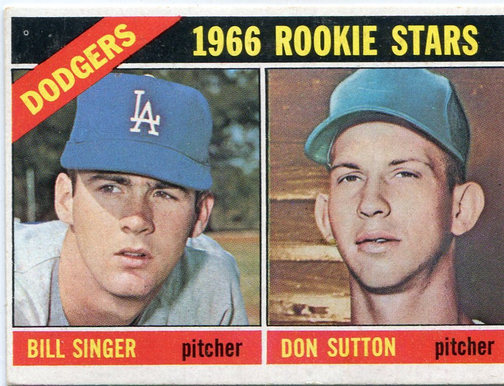 1966 Topps #288 Rookie Stars/Bill Singer RC/Don Sutton Rookie Card