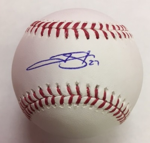 Photo of Trevor Story Autographed Baseball