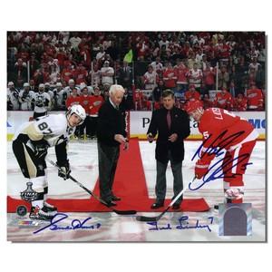 Gordie Howe, Ted Lindsay and Nicklas Lidstrom Autographed 8x10 Photo