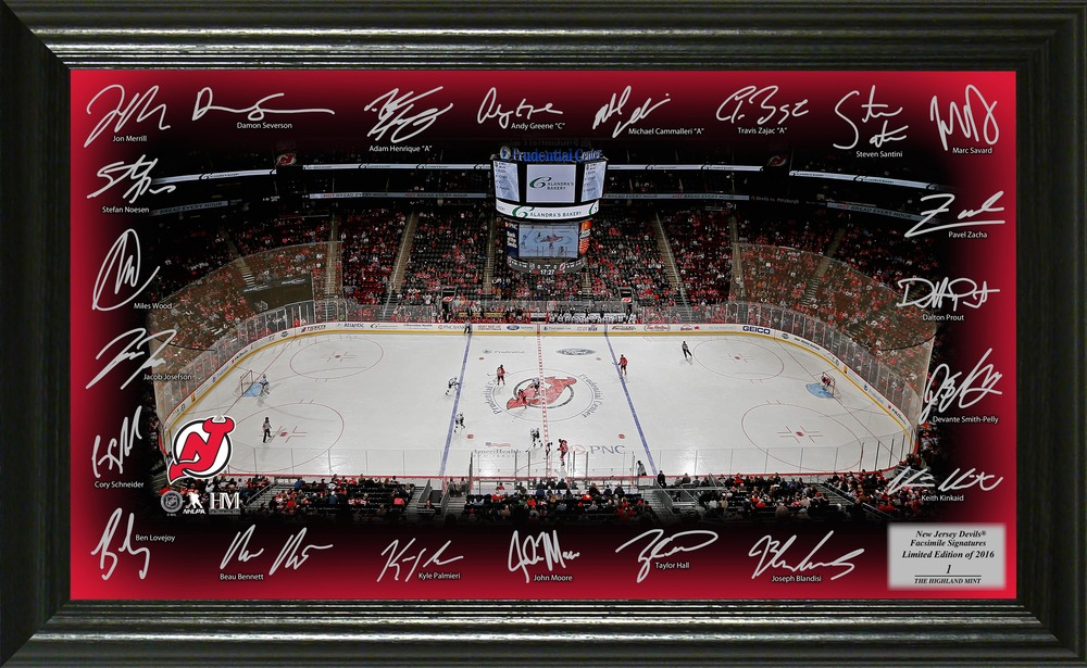 Serial #1 New Jersey Devils Signature Rink