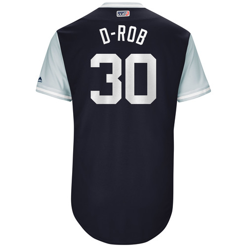 """Photo of David """"D-Rob"""" Robertson New York Yankees Game-Used Players Weekend Jersey"""