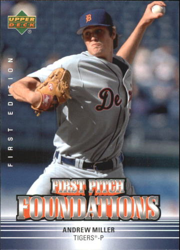 Photo of 2007 Upper Deck First Edition First Pitch Foundations Andrew Miller -- Indians post-season