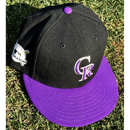 Colorado Rockies Charlie Blackmon Game-Used Postseason Cap - NL Wild Card Game