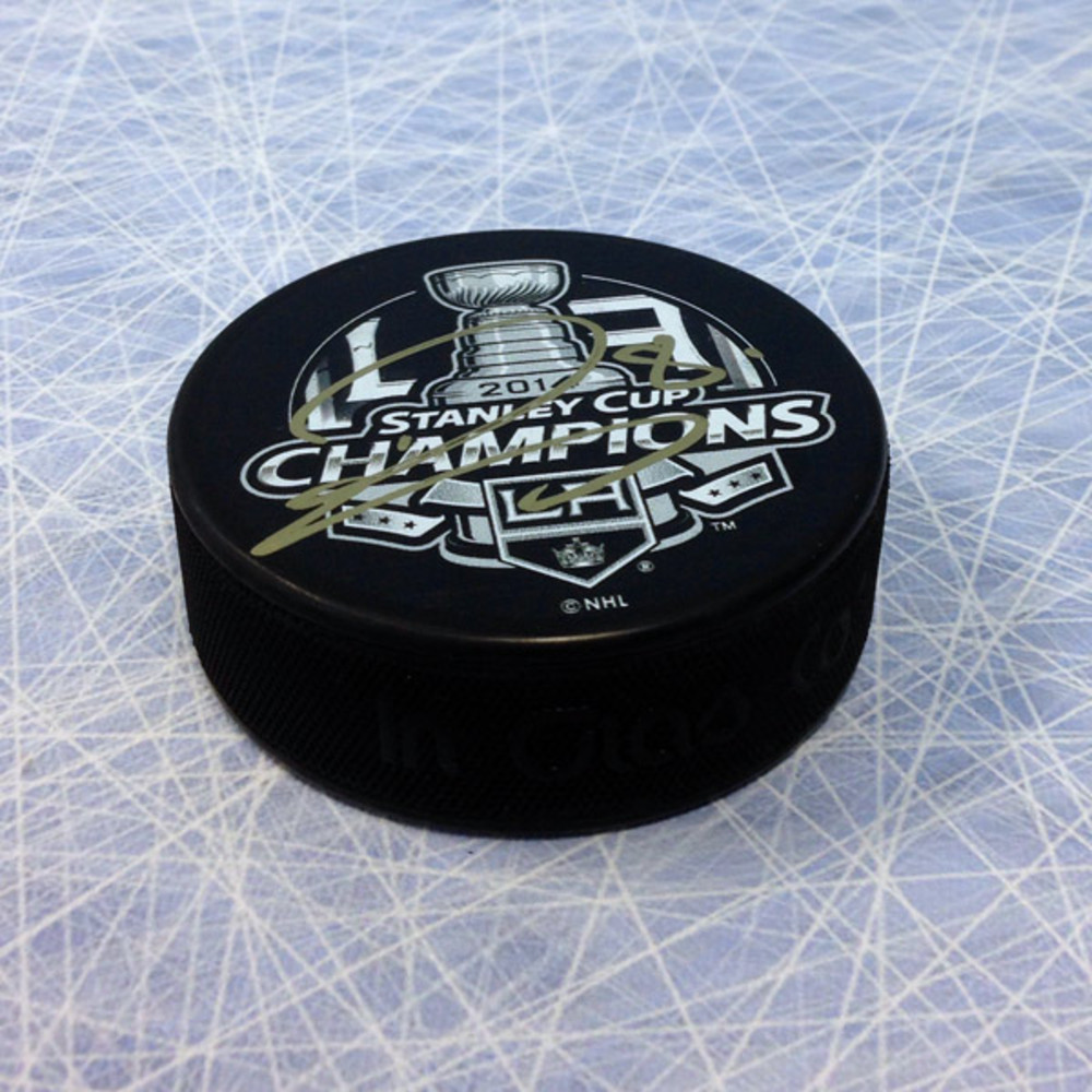 Drew Doughty Los Angeles Kings Autographed 2014 Stanley Cup Puck