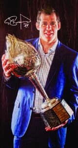 Evgeni Malkin - Signed 14x28 Canvas - Hart Trophy - Pittsburgh Penguins