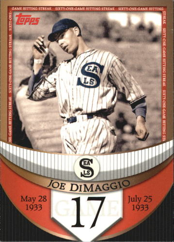 Photo of 2007 Topps DiMaggio Streak Before the Streak #JDSF17 Joe DiMaggio