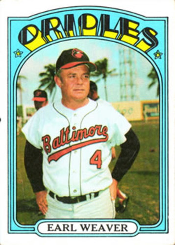 Photo of 1972 Topps #323 Earl Weaver MG