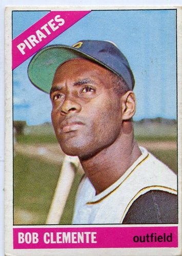 Photo of 1966 Topps #300 Bob Clemente -- Pirates Hall of Famer