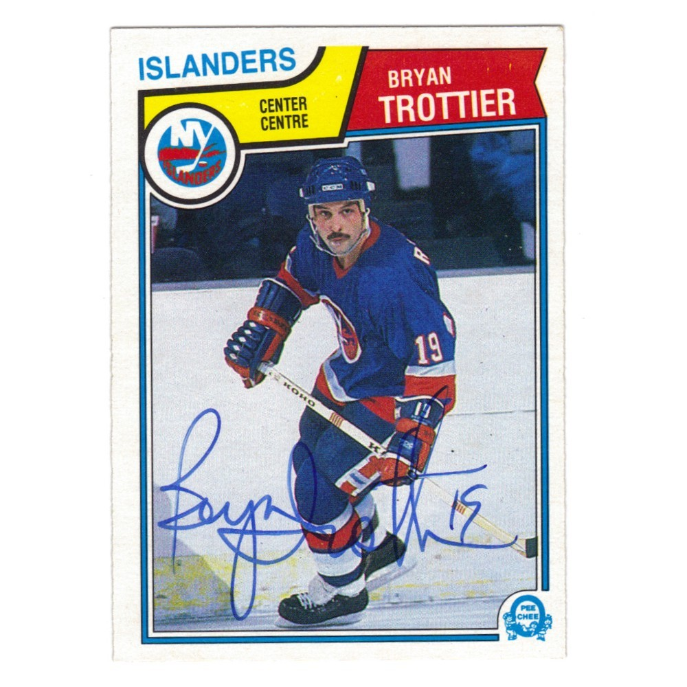 BryanTrottier Autographed New York Islanders Hockey Card