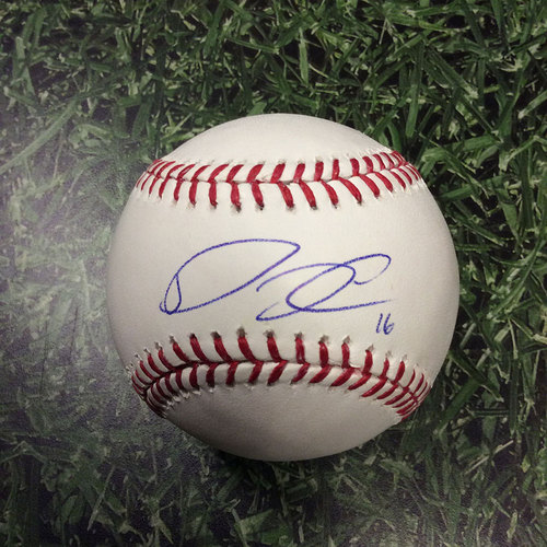 Photo of Domingo Santana Autographed Baseball
