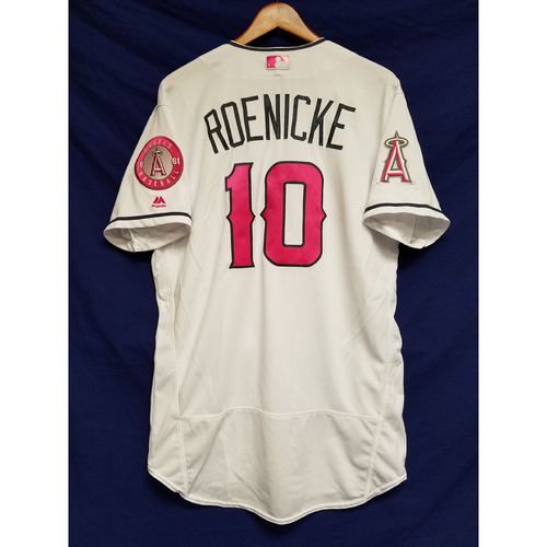 Photo of Ron Roenicke Game-Used Home Mother's Day Jersey
