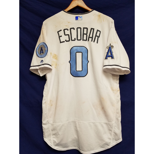 Photo of Yunel Escobar 2017 2017 Game-Used Home Fathers Day Jersey