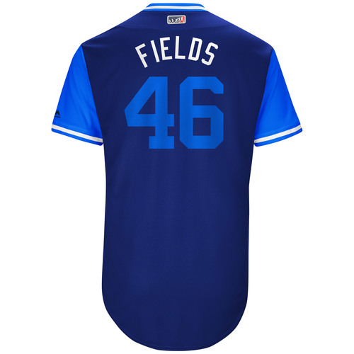 "Photo of Josh ""Fields"" Fields Los Angeles Dodgers Team-Issued Players Weekend Jersey"