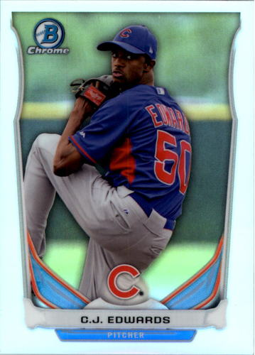 Photo of 2014 Bowman Chrome Draft Top Prospects Refractor Carl Edwards Jr. Cubs post-season