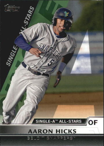 Photo of 2011 Topps Pro Debut Single-A All Stars #SA14 Aaron Hicks -- Yankees post-season