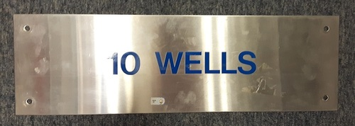 Photo of Authenticated Team Issued Locker Tag - #10 Vernon Wells (2007 Season). 18 inches by 5.5 inches.