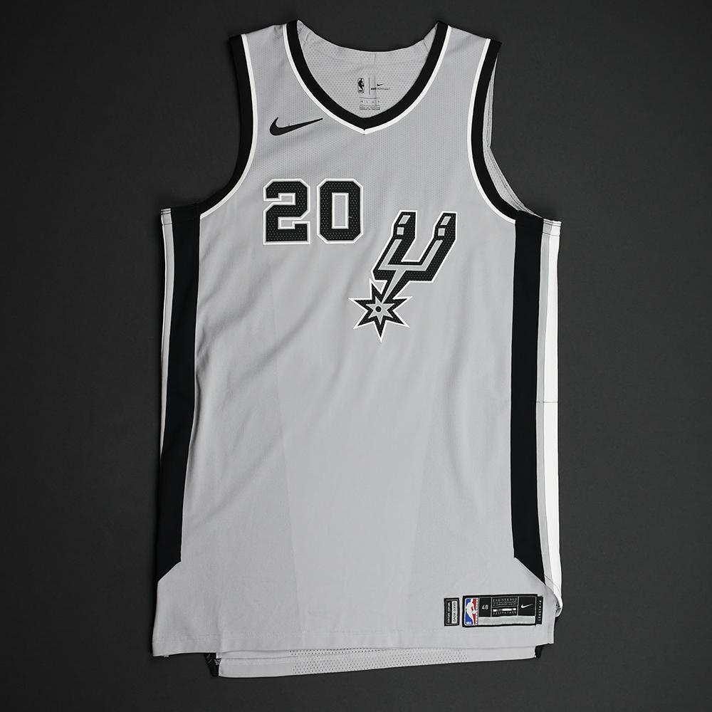 Manu Ginobili - San Antonio Spurs - Statement Game-Worn Jersey - Worn During 3 Games - 2017-18 Season