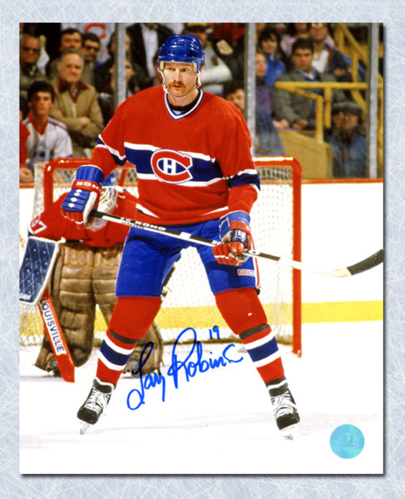 Larry Robinson Montreal Canadiens Autographed Habs Defence 8x10 Photo
