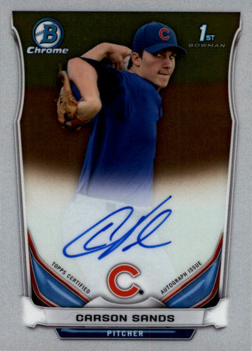 Photo of 2014 Bowman Chrome Draft Draft Pick Autographs #BCACS Carson Sands