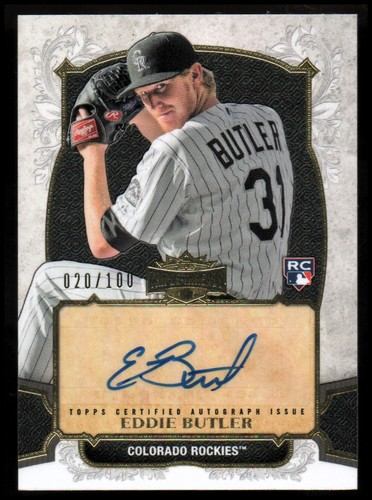 Photo of 2014 Topps Triple Threads Rookie Autographs #TRAEB Eddie Butler