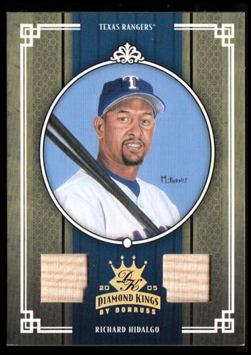 Photo of 2005 Diamond Kings Materials Gold #405 Richard Hidalgo Bat-Bat/25