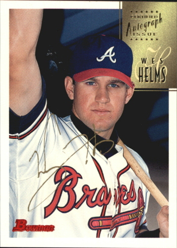 Photo of 1997 Bowman Certified Gold Ink Autographs #CA36 Wes Helms