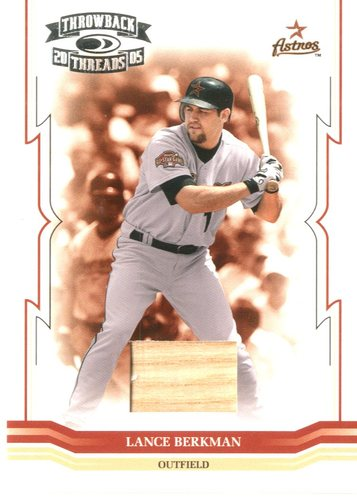 Photo of 2005 Throwback Threads Material Bat #17 Lance Berkman/250