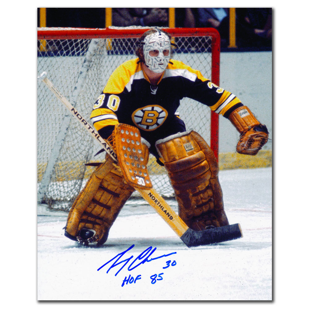 Gerry Cheevers Boston Bruins HOF Autographed 8x10