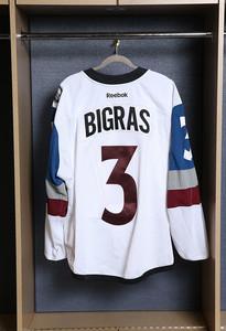 Chris Bigras Colorado Avalanche Game Worn Stadium Series Jersey