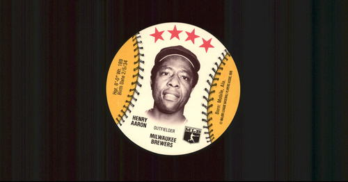 Photo of 1976 Isaly Discs #1 Hank Aaron