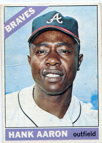Photo of 1966 Topps #500 Hank Aaron -- Braves Hall of Famer