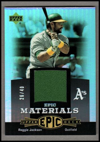 Photo of 2006 Upper Deck Epic Materials Grey #RE1 Reggie Jackson Jsy/40