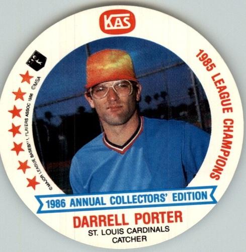 Photo of 1986 Cardinals KAS Discs #16 Darrell Porter