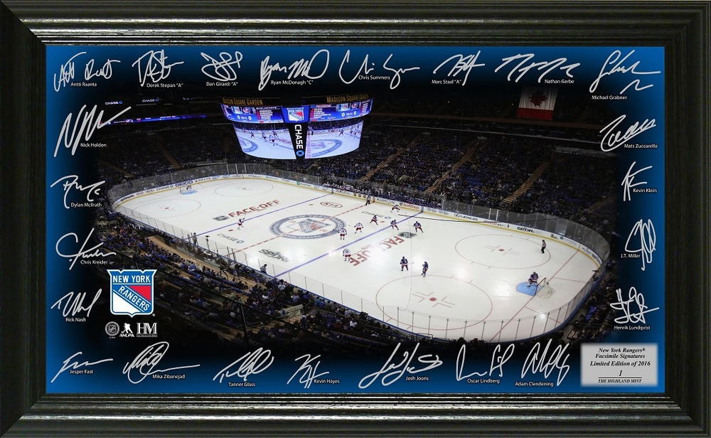 Serial #1 New York Rangers Signature Rink