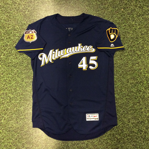 Photo of Tyler Cravy 2017 Game-Used Spring Training Jersey