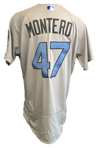 Photo of Miguel Montero Game-Used Father's Day Jersey -- Cubs vs Pirates -- 6/17/17