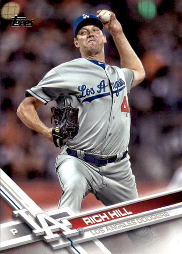 Photo of 2017 Topps #462 Rich Hill -- Dodgers post-season