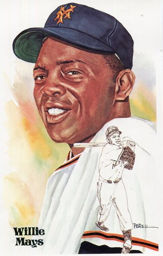 Photo of 1980-02 Perez-Steele Hall of Fame Postcards #168 Willie Mays -- Set #08689