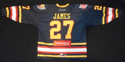 27 Cordell James warmup jersey
