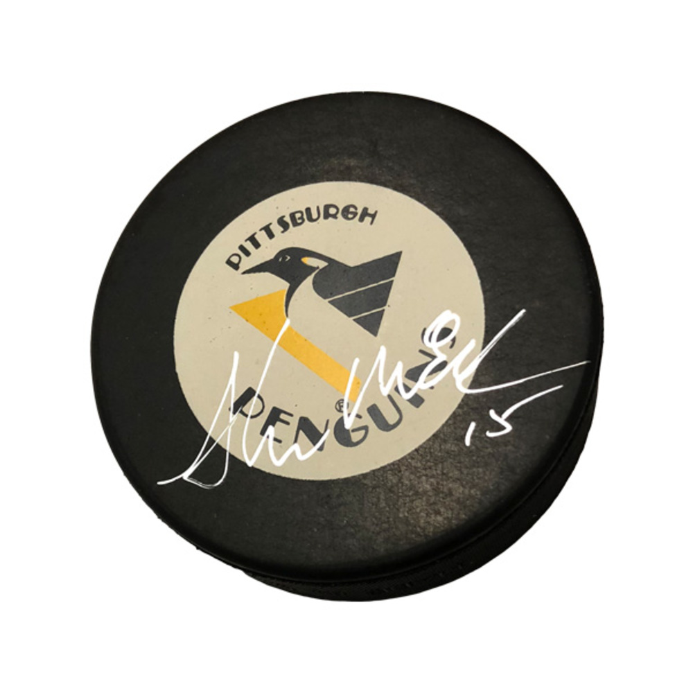 SHAWN MCEACHERN Signed Pittsburgh Penguins Puck