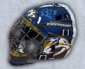 Pekka Rinne Nashville Predators Autographed Franklin SX Comp GFM Goalie Mask