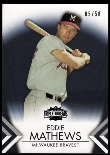 Photo of 2012 Topps Triple Threads Onyx #57 Eddie Mathews