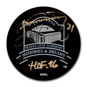 Borje Salming Autographed Maple Leaf Gardens Memories & Dreams Puck w/HOF 96 Inscription (Toronto Maple Leafs)