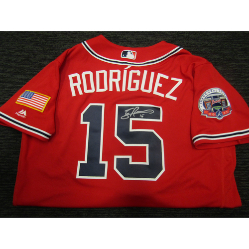 Photo of Braves Charity Auction - Sean Rodriguez Team Issued & Autographed Braves Military Appreciation Jersey